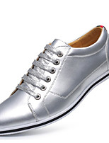 Men's Oxfords Novelty Spring Summer Fall Winter Microfibre Casual Outdoor Office & Career Split Joint Flat Heel Silver Gold Flat