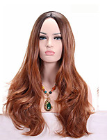 Long Wavy Black Brown Wig Ombre Synthetic Wig for Black Women Hair Heat Resistant Synthetic Wig