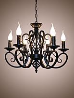 Lustres de style européen salon lampe de table originalité simple bougies innovantes lampes à 6 têtes