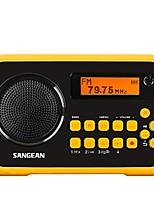 Italker Rádio portátil Radio FM Alto Falante Embutido Cartão SDWorld ReceiverPreto e Amarelo