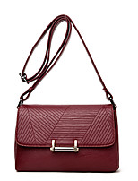 Women Bags All Seasons PU Shoulder Bag with for Wedding Event/Party Casual Formal Office & Career Blue Black Red Purple