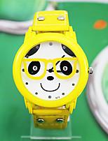 Mujer Reloj de Moda Cuarzo Piel Banda Amarillo