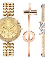 Жен. Наручные часы Часы-браслет Кварцевый Нержавеющая сталь Группа Креатив Золотистый