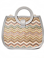 Women Bags All Seasons PU Tote with for Wedding Event/Party Casual Formal Office & Career White Gray Brown Blushing Pink