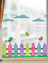 Window Film Window Decals Style Colour Fence Grind Arenaceous PVC Window Film