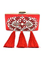 Women Bags All Seasons Silk Shoulder Bag with Pearl Crystal/ Rhinestone Flower for Shopping Casual Blue Black Red Blushing Pink