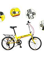 Складные велосипеды Велоспорт 7 Скорость 20 дюймы Yinxing Векторный ободной тормоз Без амортизации Стальная рама Складной Без амортизации