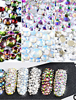 800 Manucure Dé oration strass Perles Maquillage cosmétique Nail Art Design