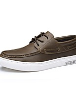 Men's Oxfords Comfort Leather Casual Office & Career Party & Evening Walking Khaki Black