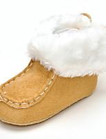 Baby Flats Comfort Fashion Boots Fabric Fall Winter Wedding Casual Outdoor Party & Evening Dress Lace-up Flat HeelKhaki Fuchsia Purple