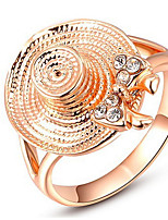 Couple Rings Band Rings Women's Fashion Luxury Elegant Creative Straw Hat Style Rose Gold  Rings Party Daily Wedding Gift Jewelry