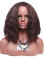 Парики из искусственных волос Без шапочки-основы Средний Кудри Джерри Керл Бежевый Парик из натуральных волос Карнавальные парики