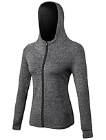 Women's Long Sleeves Anatomic Design Breathability Stretchy Tracksuit Zip Top for Running/Jogging Camping / Hiking Cycling Leisure Sports