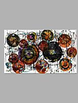 Pintada a mano Abstracto Horizontal,Artístico Un Panel Lienzos Pintura al óleo pintada a colgar For Decoración hogareña