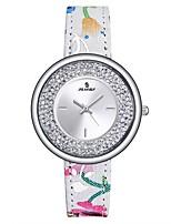 Жен. Спортивные часы Модные часы Часы с незакрепленными камнями Японский Кварцевый Защита от влаги Натуральная кожа Группа Повседневная