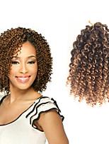 Фигурные плетенки Кудри Джерри Керл 100% волосы канекалона 100% волосы канеколонЧерный / Medium Auburn Черный / Бургундия Черный / серый