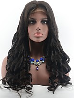 Brazilian Virgin Hair Spring Curly Glueless Lace Front Human Hair Wigs for Black Women Natural Black Color Middle Part Lace Wigs With Baby Hair
