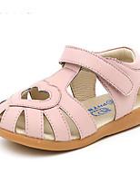 Девочки Сандалии Удобная обувь Обувь для малышей Лето Дерматин Повседневные Белый Серебряный Розовый На плоской подошве