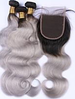 Волосы Уток с закрытием Бразильские волосы Естественные кудри 12 месяцев 4 предмета волосы ткет кг Пряди с быстрым креплением