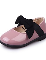 Girls' Flats Comfort Leatherette Spring Fall Wedding Casual Outdoor Party & Evening Dress Bowknot Gore Flat Heel Light Purple Black Gold