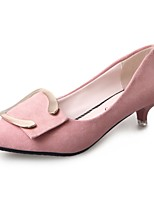 Mujer Tacones Confort Cachemira Verano Casual Paseo Tacón Stiletto Negro Gris Rosa 5 - 7 cms