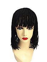 Парики из искусственных волос Без шапочки-основы Короткий Средний Черный 100% волосы канекалона Парик в афро-американском стиле Для