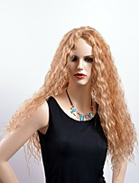 BEAUTY Hair Natural Long Curly Wig High Temperature Fiber Women Blonde Mixed Color Wigs Synthetic Hair