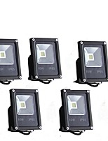 5PCS 10W  LED Cool White  Floodlight 5500Lm 85-265v  IP65