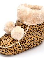 Baby Flats Comfort Fashion Boots Fabric Fall Winter Wedding Casual Outdoor Party & Evening Dress Magic Tape Flat Heel Leopard Flat