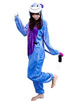 kigurumi Pyjamas Âne Collant/Combinaison Fête / Célébration Pyjamas Animale Halloween Animal Molleton Kigurumi Pour Couple Unisexe