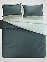 Solid 1pc Duvet Cover 2pcs Shams 1pc Flat Sheet