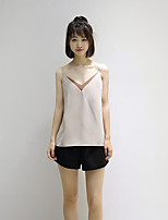 Women's Going out Cute Summer T-shirt,Solid Embroidery Boat Neck Half Sleeve Cotton Medium