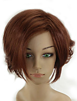 Woman Short Curly Brown Wig High Temperature Fiber Synthetic Hair Wigs