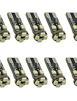 10PCS 1.5W white DC12v T10 8led 3528SMD  led Auto Lamps Car Instrument Light Decorative Lamp Reading Light License Plate Light Door Lamp