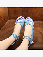 Women's Wedding Shoes Comfort Fabric Spring Casual Comfort Blue Ruby Beige 2in-2 3/4in