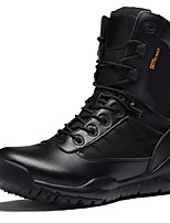 Men's Boots Snow Boots Fashion Boots Real Leather Cowhide Nappa Leather Winter Casual Outdoor Office & Career Trail Running Lace-upFlat