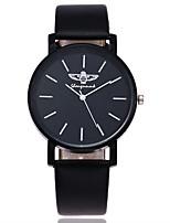 Men's Dress Watch Fashion Watch Wrist watch Unique Creative Watch Casual Watch Chinese Quartz PU Band Charm Casual Luxury Elegant Black