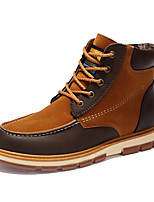 Men's Shoes Suede Fall Winter Combat Boots Boots For Casual Outdoor Blue Brown Black