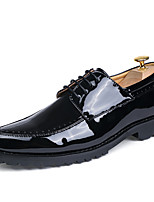 Men's Oxfords Formal Shoes Spring Summer Fall Winter Patent Leather Casual Office & Career Party & Evening Ruby Black 1in-1 3/4in