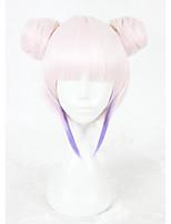 Парики из искусственных волос Без шапочки-основы Короткий Прямые Розовый Парик Faux Locs Парики для косплей Карнавальные парики