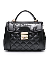 Women Bags All Seasons PU Tote with for Casual Black Dark Gray