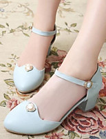 Women's Shoes Nubuck leather PU Spring Summer Comfort Heels For Casual Beige Blue Blushing Pink