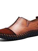 Для мужчин Мокасины и Свитер Удобная обувь Наппа Leather Весна Осень Зима Повседневные Для вечеринки / ужина Черный Темно-русыйНа плоской