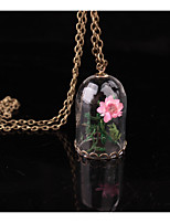 Women's Pendant Necklaces Tube Flower Alloy Floral Jewelry For Wedding Party Birthday Graduation Gift Daily