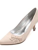 Feminino Sapatos De Casamento Conforto Plataforma Básica Cetim Primavera Verão Casamento Festas & Noite SocialPedrarias Laço Gliter com
