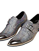 Для мужчин обувь Наппа Leather Осень Зима Формальная обувь Туфли на шнуровке С металлическим носком Назначение Повседневные Для праздника