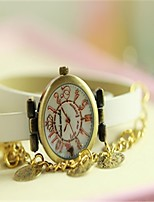 Women's Fashion Watch Bracelet Watch Quartz Leather Band White