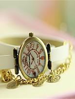Mujer Reloj de Moda Reloj Pulsera Cuarzo Piel Banda Blanco