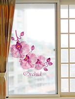 Window Film Window Decals Style Pink Flower Grind Arenaceous PVC Window Film