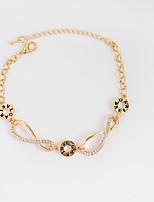 Femme Fille Chaînes & Bracelets Bracelets de tennis Bijoux Mode Strass Alliage Bijoux Pour Anniversaire